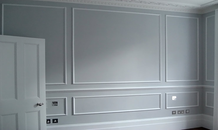 Grey Decorated Wall