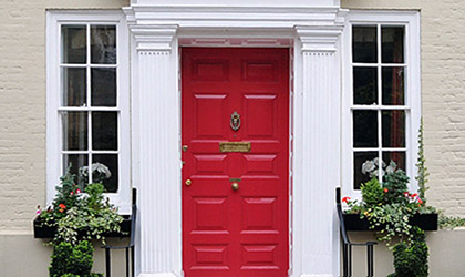 Red Painted Door